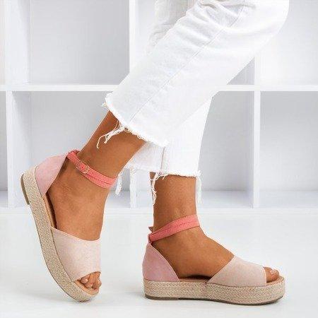 Pink women's sandals a'la espadrilles Truly Yours - Footwear 1