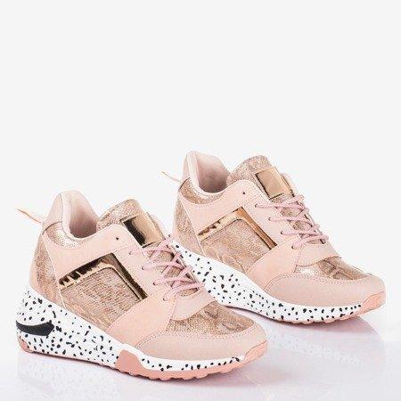 Pink women's sports sneakers on the wedge Acanta - Footwear 1