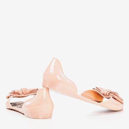 Powdered melissa with a bow Oryna - Footwear