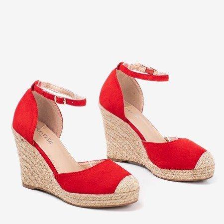 Red espadrilles on a wedge Bonita - Footwear