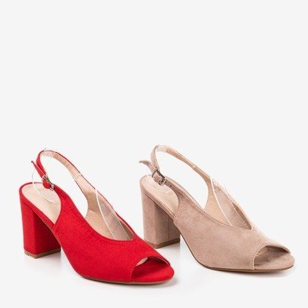 Red sandals on a higher post Indimida - Footwear 1