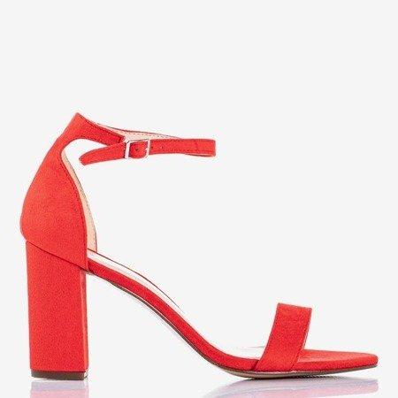 Red women's sandals on a Sweet Honey post - Footwear 1