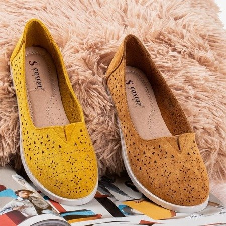 Rewita mustard openwork loafers - Footwear