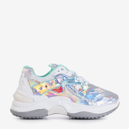 Silver trainers with holographic inserts Etana - Footwear