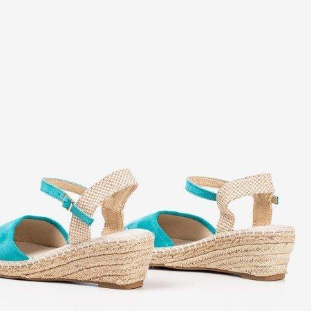 Turquoise sandals on the wedge a'la espadrilles Jorcia - Shoes 1