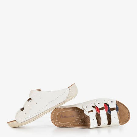 Uganda white women's platform slippers - Shoes