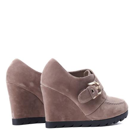 Wedge shoes - khaki color Binevi - Footwear