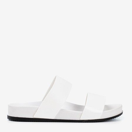 White flip flops with Whist stripes - Footwear 1