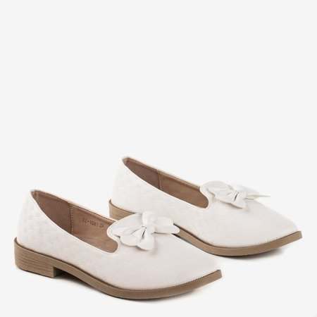 White loafers with Flavis bow - Footwear