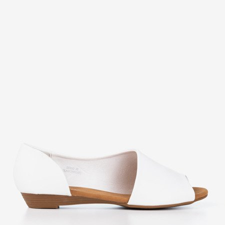 White women's sandals on a low wedge Irynis - Shoes 1