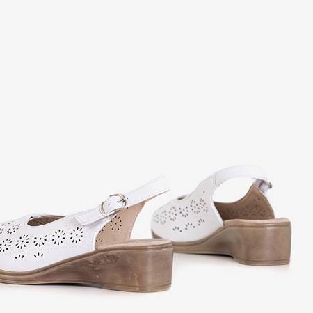 White women's sandals on a low wedge Kelpia - Shoes