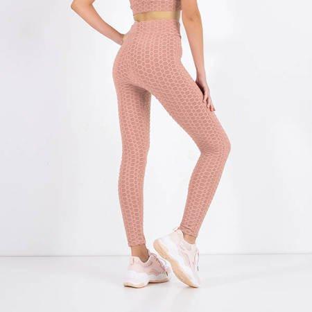 Women's Light Pink Sports Leggings - Clothing