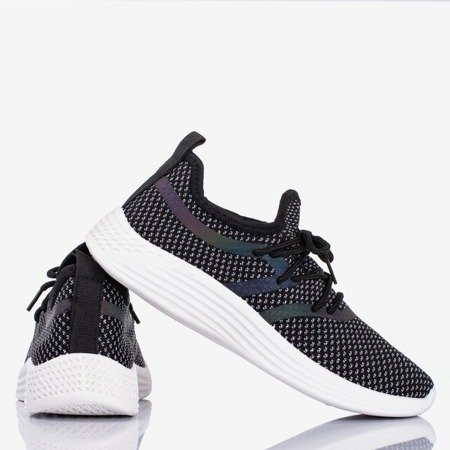 Women's black sports shoes with a glossy finish Epiphania - Footwear