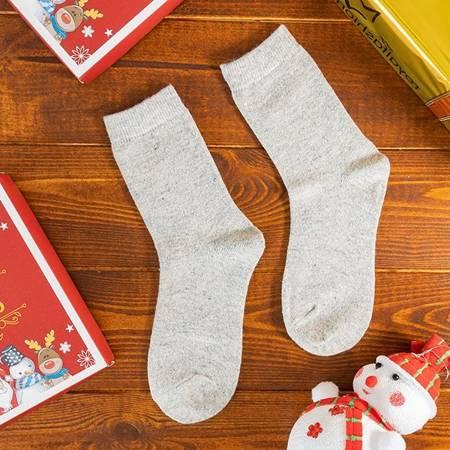 Women's light gray wool socks - Socks