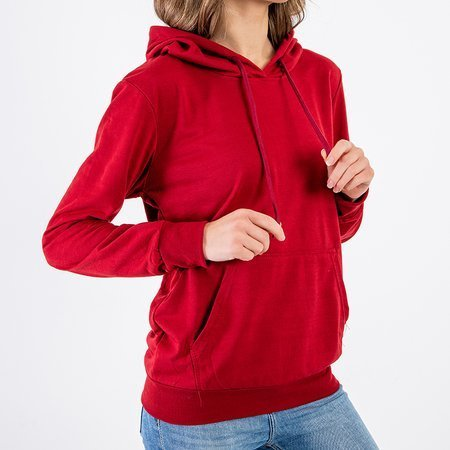 Women's maroon hooded sweatshirt - Sweatshirt