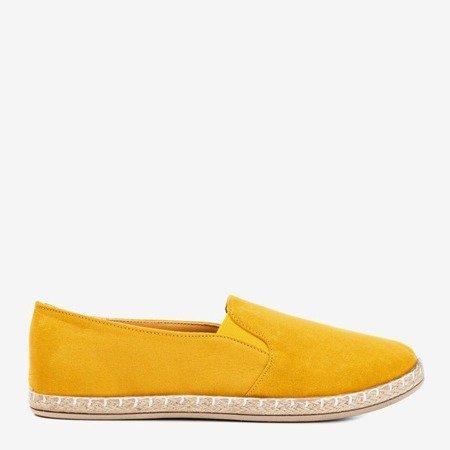 Women's mustard espadrilles from Melicija eco-suede - Footwear 1