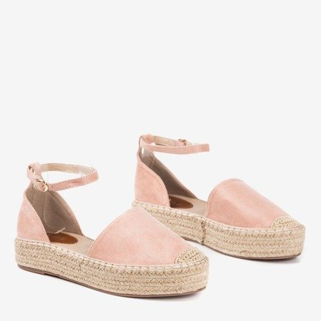 Women's pink espadrilles on the Marcita platform - Footwear