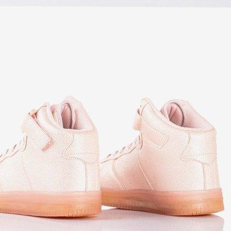 Women's pink high-top trainers Celleste - Footwear