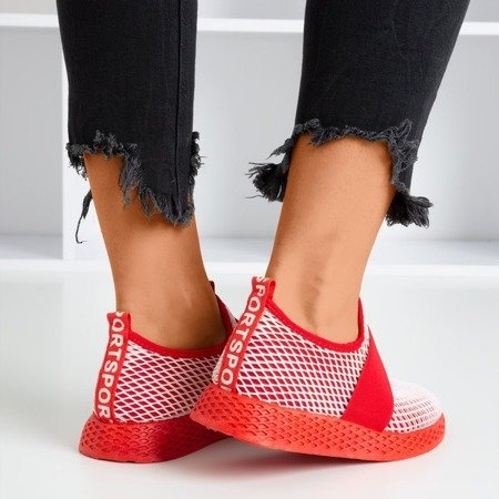 Women's red sports slip shoes - on Andalia - Footwear
