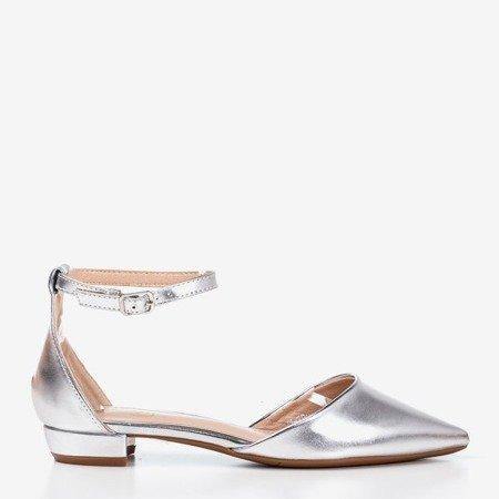 Women's silver flat ballerinas Arinida - Shoes