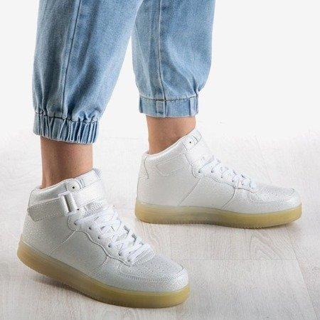Women's silver high-top trainers Celleste - Footwear