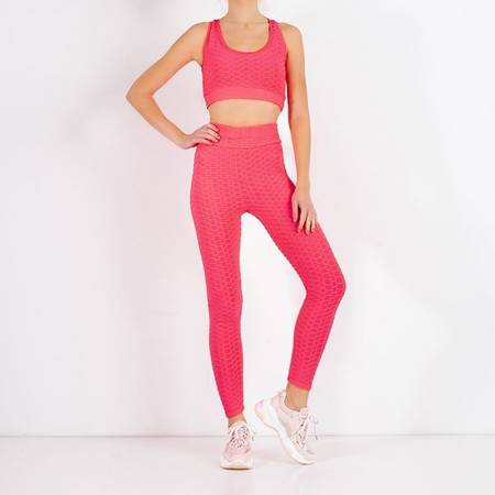 Women's sports set in neon pink - Clothing
