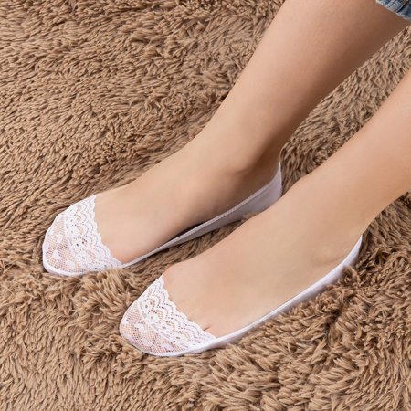 Women's white lace socks - Socks