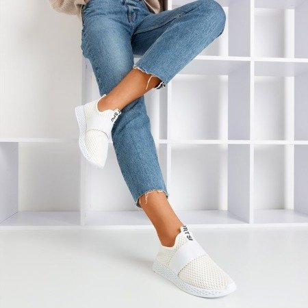 Women's white slip sports shoes - on Andalia - Footwear