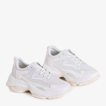 Women's white sports sneakers Dessa - Footwear