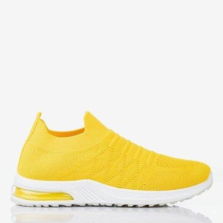 Women's yellow slip-on sports shoes - on Brighta - Footwear