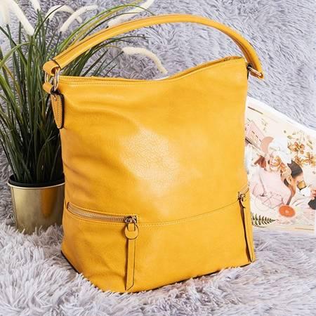Yellow large shoulder bag - Handbags
