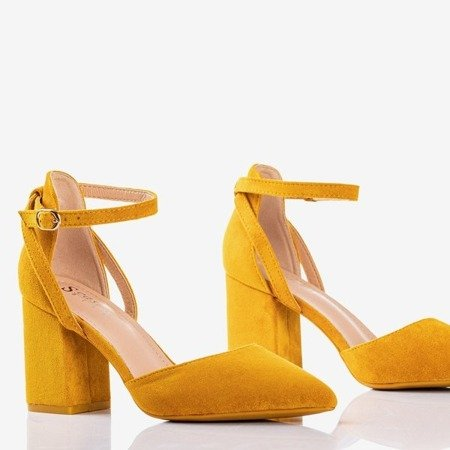 Yellow pumps on a higher post Party Time - Footwear