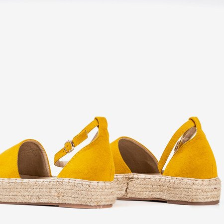 Yellow women's espadrilles on the Marcita platform - Footwear 1
