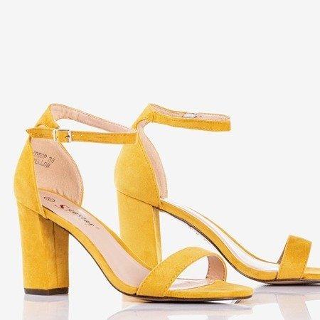 Yellow women's sandals on a Sweet Honey post - Footwear 1