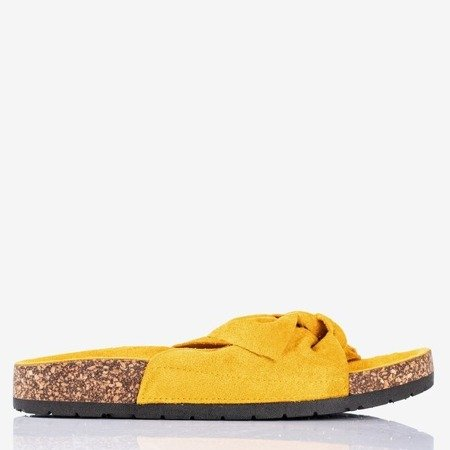 Yellow women's slippers with a bow Sun and Fun - Footwear 1