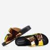 Black flip flops with holographic finish Sumire - Footwear 1