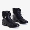 Black women's lace-up boots from Franotti - Footwear
