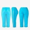 Blue short leggings with stripes - Pants 1