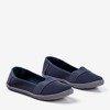 Dark gray girls' openwork slip - on Lucida- Footwear