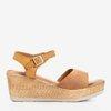 Erios' camel wedge sandals - Footwear