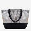 Gray and black shoulder bag - Handbags