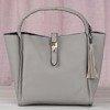 Gray women's tassel bag - Handbags 1