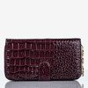 Large purple faux leather wallet with quilted finish - Wallet