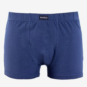 Navy blue men's cotton boxer shorts PLUS SIZE - Underwear