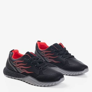 OUTLET Black and red track men's sports shoes - Footwear