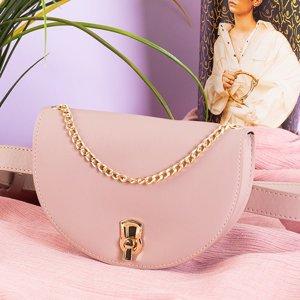 Pink small women's waist bag - Handbags