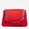 Red women's handbag with animal embossing - Handbags