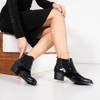 Retro black lacquer Farinola boots - Footwear