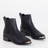 Santorins black women's Chelsea boots with flat heels - Shoes