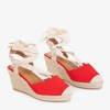 Women's red wedge sandals a'la espadrilles Senobia - Shoes